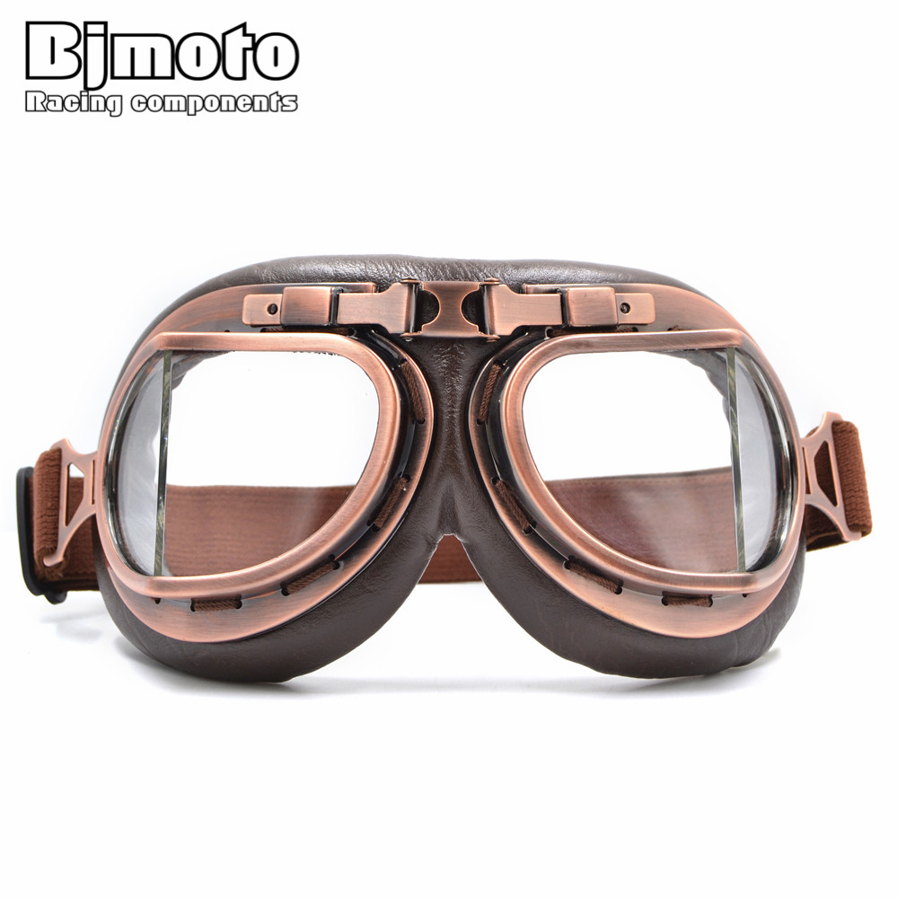BJMOTO 2016 NEW WWII Vintage Harley style motorcycle gafas motocross moto goggles Scooter Goggle Glasses Aviator Pilot Cruiser