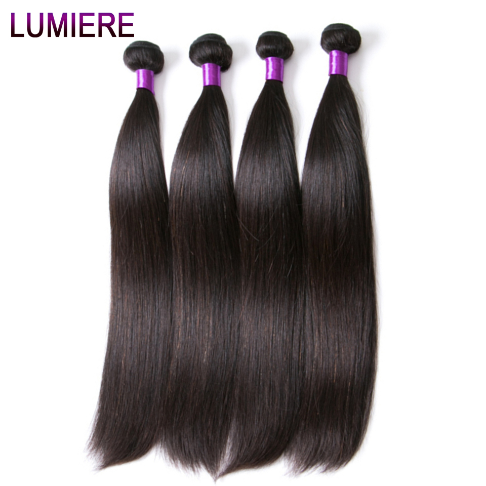 Lumiere Hair Perui taisni matu pieaudzēšanas līdzekļi Remy Hair - Cilvēka mati (melnā krāsā) - Foto 4