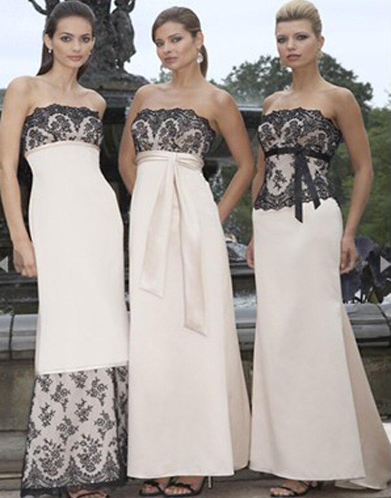 Elegant Pink font b Bridesmaid b font font b Dresses b font 2017 Strapless Lace Appliques