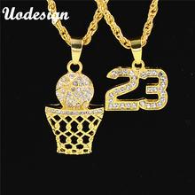 Ожерелья uodesign с золотистыми блестками и цифрами 23 Баскетбольным