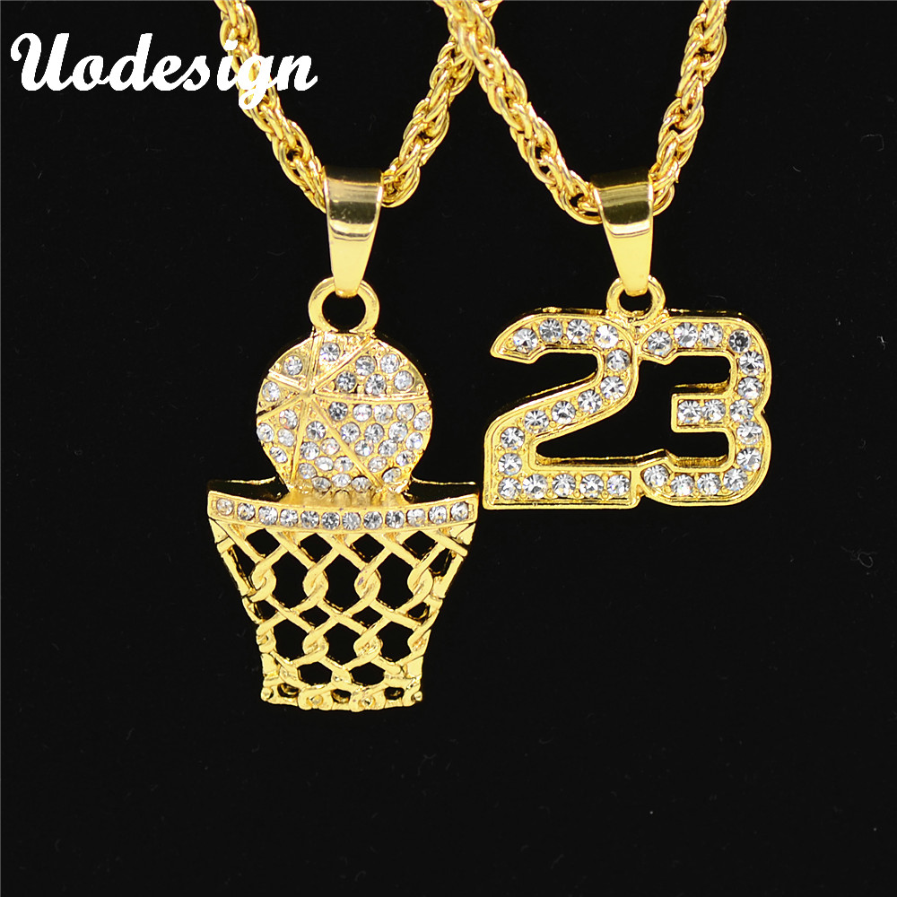 Uodesign golden bling number 23 and basketball hoop for Bling jewelry coupon code