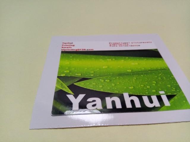 Kertas glossy sticker printing kustom glossy film dilaminasi