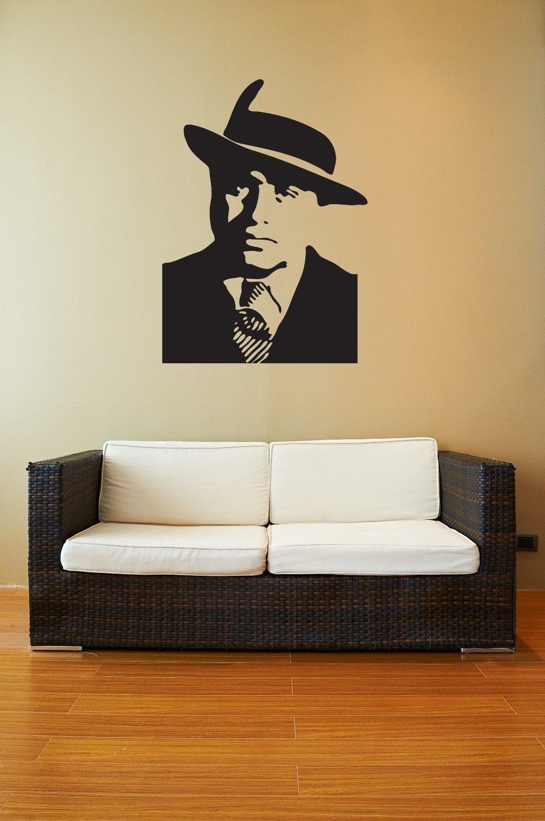 Nové vyměnitelné samolepky na zeď Vinylové obtisky Gangster Al Capone Mafia Doprava zdarma