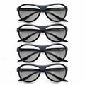 4 unids/lote ag-f310 gafas 3d pasivas polarizadas gafas de reemplazo para lg samsung sony konka tcl cine reald 3d tv equipo