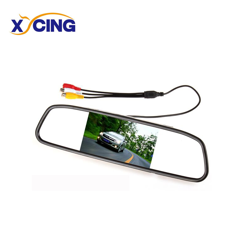 XYCING 4.3 Inch Color TFT LCD Car Monitor 480x272 Pixels Parking Rear View Mirror for Backup Reverse Rearview Camera RVC-202 image
