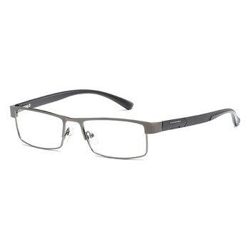 High Quality MEN Titanium alloy Eyeglasses Non spherical 12 Layer Coated lens reading glasses +1.0 +1.5 +2.0 +2.5 +3.0 +3.5+4.0 4