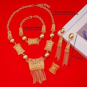Image 2 - جديد وصول الأفريقية دبي الذهب العروس مجوهرات مجموعة 24 كيلو الذهب الاثيوبية الأوسط الفصح الهند كينيا المجوهرات مجموعة