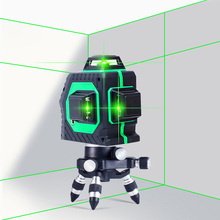 12 линий зеленый лазерный уровень самонивелирующийся крест Лазерная линия портативный зеленый лазерный уровень