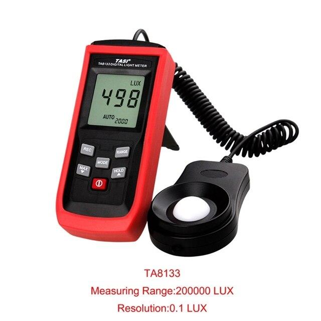 חם חדש TA8133 הדיגיטלי Lux מטר הארה אור מטר 200000Lux Lux/FC רכב פנס גלאי 2019 Dropshipping