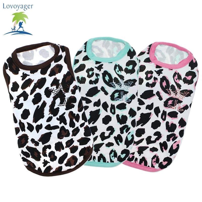 Oblečení pro psy Nové štěně pro psy Vesta jarní košile Leopard pro psy Vesta pyžama Bavlněná mikina Oblečení pro domácí mazlíčky