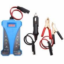 1set Durable Blue 12V Smart Digital Battery Tester Voltmeter Alternator Analyzer Car Vehicle Digital Battery Analyzer оригинальный автомобильный тестер аккумуляторной батареи autool bt360 12v digital analyzer 2000cca 220ah многоязычные устройства д