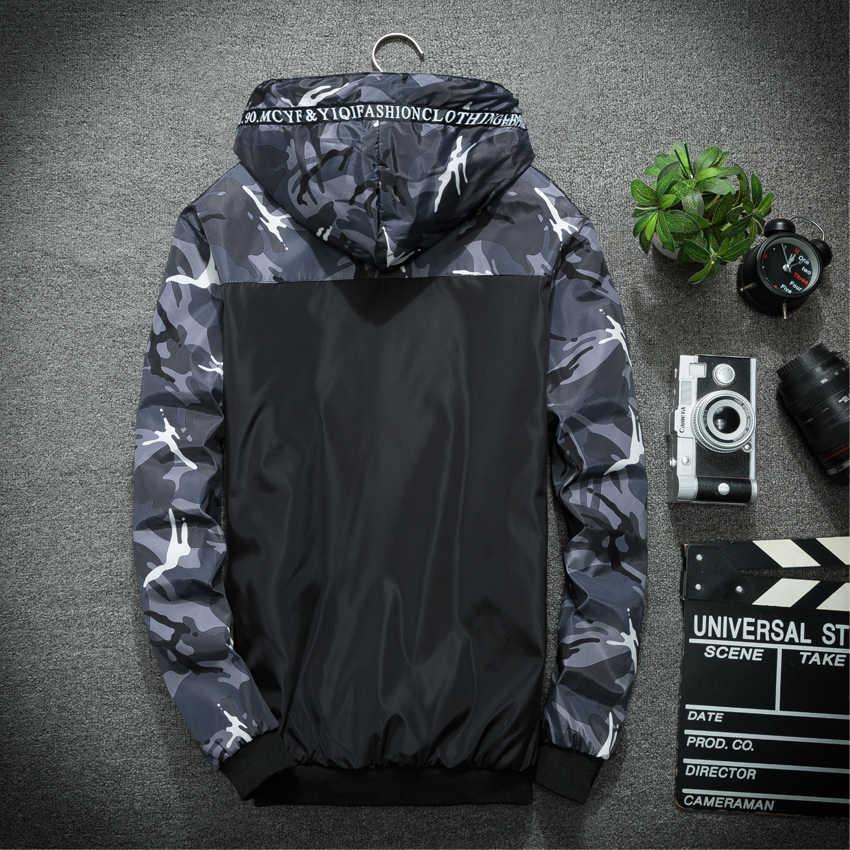 NaranjaSabor 春秋男性のジャケット迷彩軍事付きコートカジュアルジッパー男性ウインドブレーカー男性ブランド服 N434