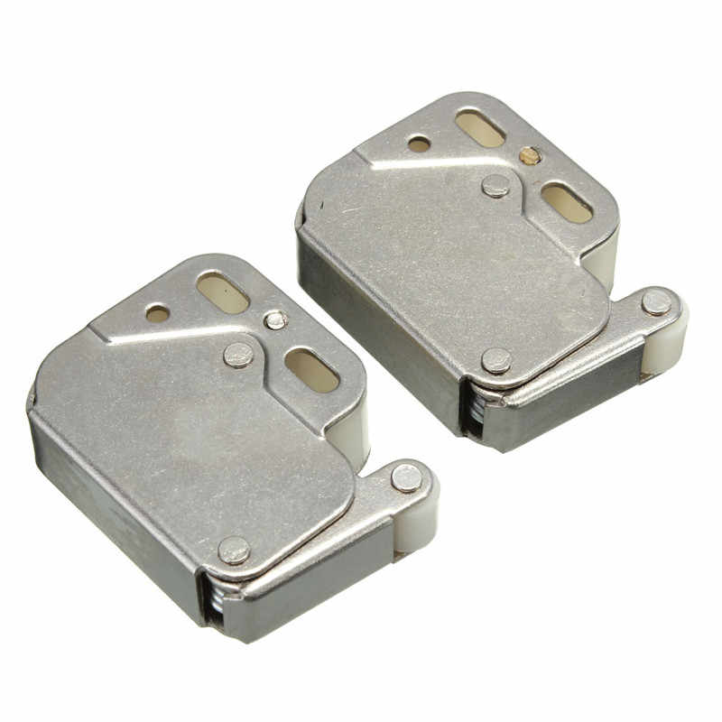 MTGATHER 2 Pcs Mini Tip Cupboard Catch Caravan Spring Loaded Door Cabinet Boat Latch 32mm x 10.5mm x 10mm Best Promotion