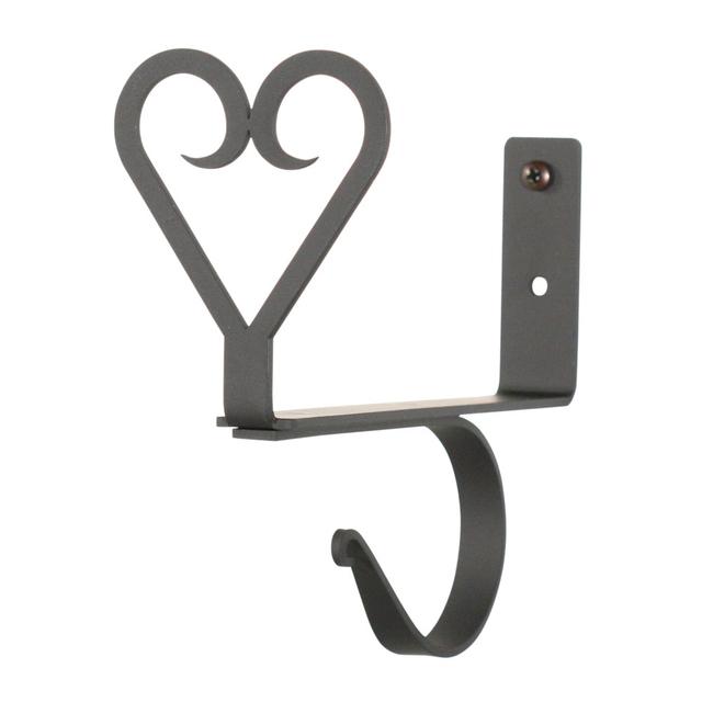Village Wrought Iron Heart – Curtain Shelf Brackets