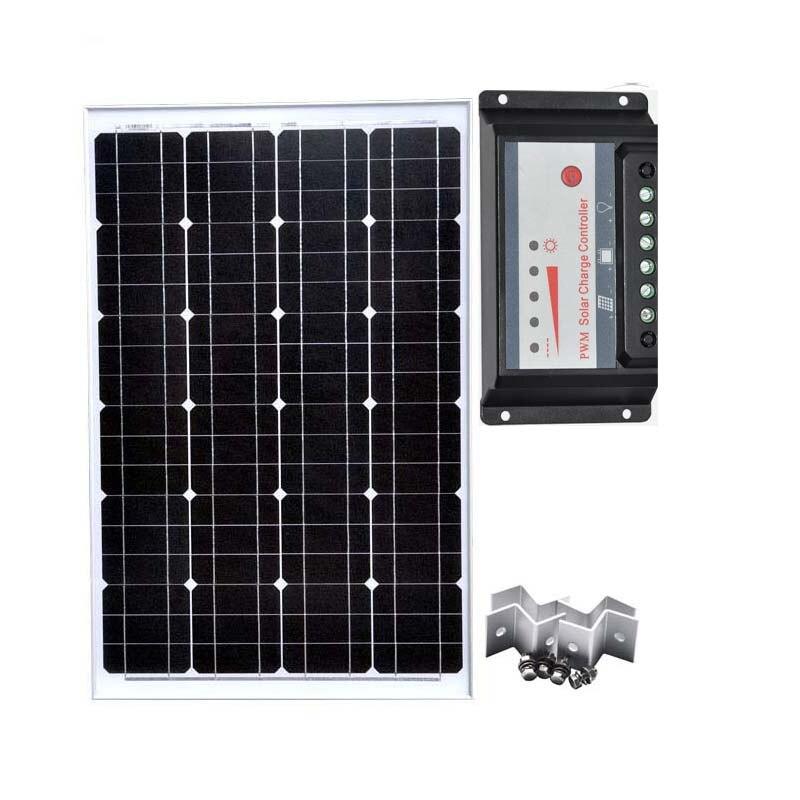 Module solaire 18 v 60 w 12 v chargeur solaire batterie contrôleur de Charge solaire USB 12 v/24 v 30A Z support de montage câble Car Camp 190321