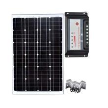 Solar Module 18v 60w 12v Solar Charger Battery Solar Charge Controller USB 12v/24v 30A Z Bracket Mount Cable Car Camp 190321