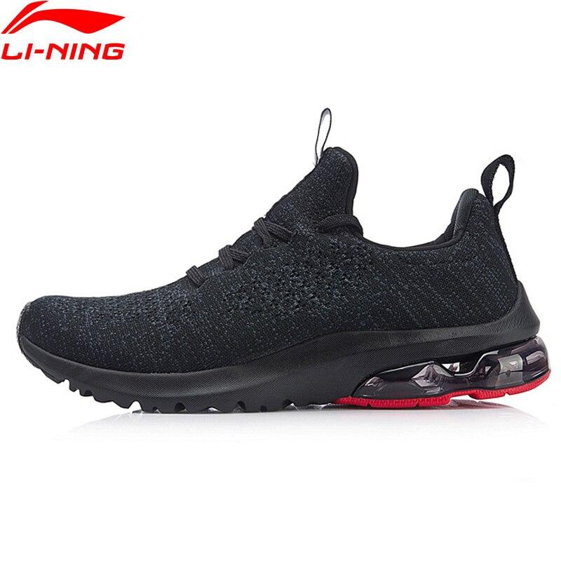 Li-Ning/Мужская прогулочная обувь с пузырьками на подкладе, дышащая классическая спортивная обувь с подкладкой для отдыха, кроссовки AGCN067 YXB209