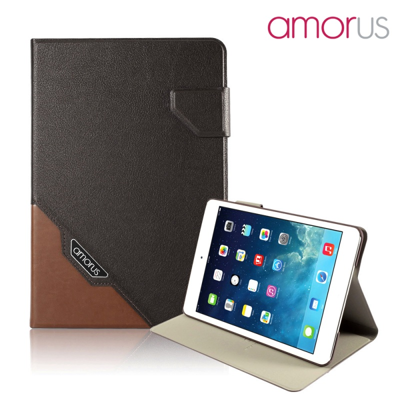 AMORUS Case for Apple iPed mini 3 2 1 Case Premium Business Smart PU Leather Tablet
