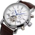 Мужские часы, автоматические механические часы с турбийоном, лучший бренд, роскошные часы с календарем, день, неделя, год, кожаные часы, Reloj ...