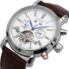 Watch JARAGAR Mechanical-Tourbillon Automatic Luxury Reloj Calendar-Day Top-Brand Week-Year