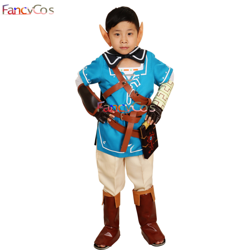 Halloween Boys The Legend of Zelda Breath of the Wild Link Outfit Sheikah Slate Uniform Quiver Cosplay Costume Game Anime Japane