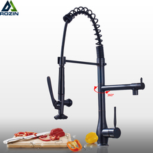 Kitchen Faucet Showerhead Deck-Mounted Pull-Down-Spring Bathroom Brass Handsfree Hot-And-Cold-Water-Taps
