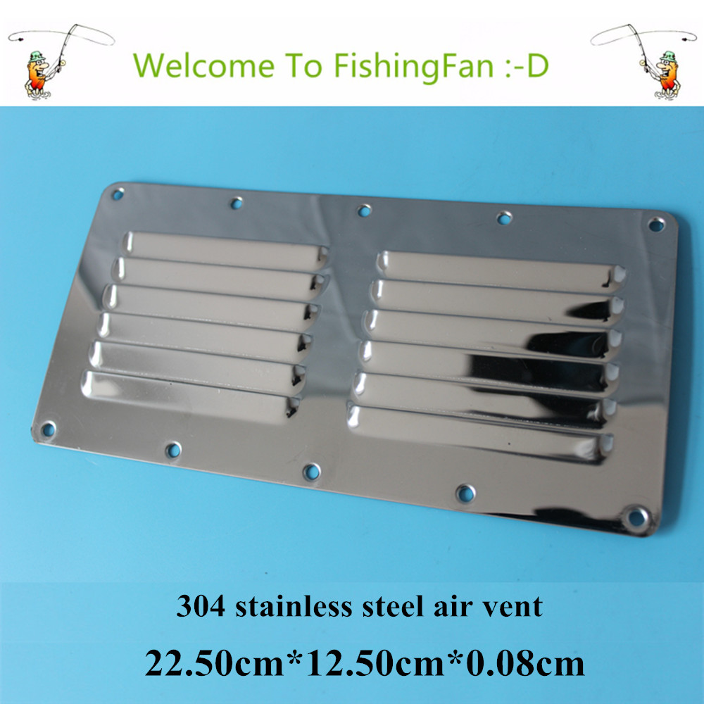 22.50cm*12.5cm Louvred Stainless Steel Square Air Vent Grille Metal Wall Ventilation