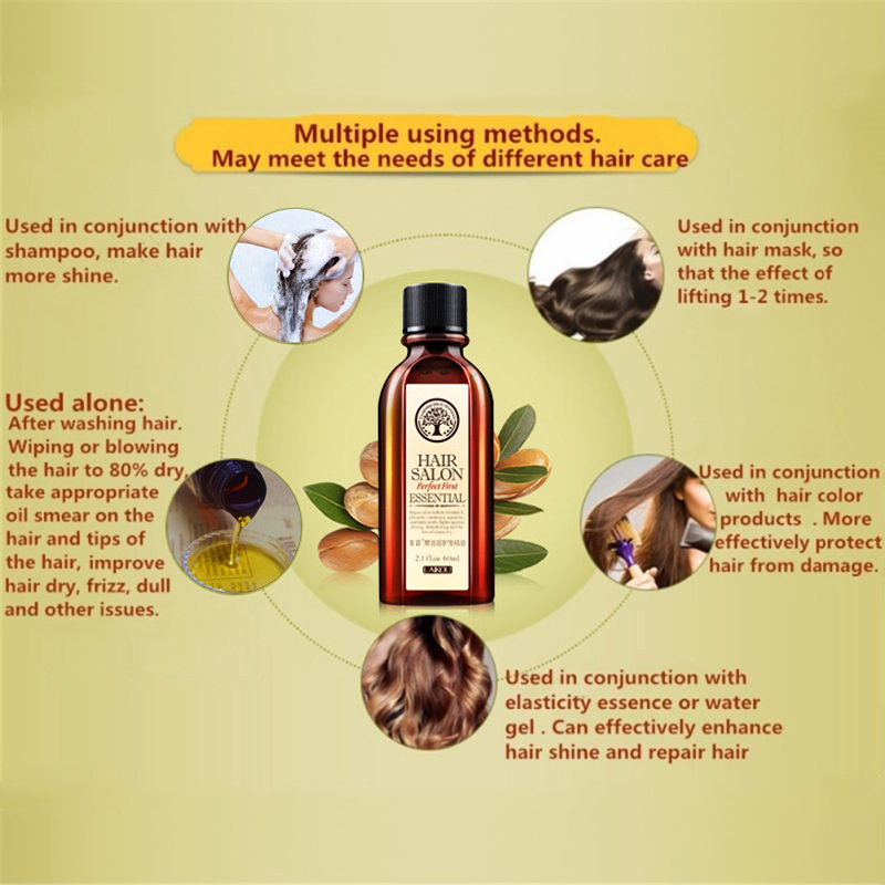 NEW Hair Oil Argan Oil 60ml Clean Hair Curly Hair Treatment Hair Care Salon Essential image