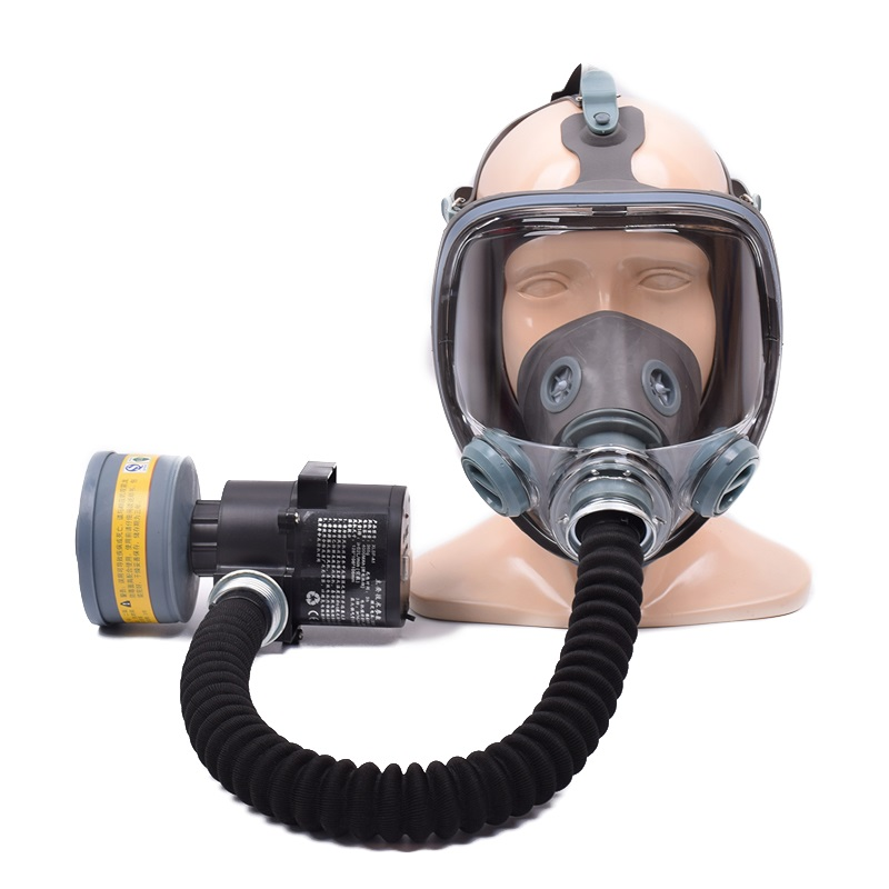 3 Interface Chemical Breathing Gas Mask #3/7/4 Filters Full Face Mask Anti-virus Breathable Safety Mask Automatic Air Supply