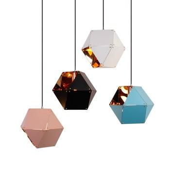 Modern İskandinav tarzı çelik kaplama Kolye Işıkları dükkanı Restoran Stüdyo Ev Hanglamp damla ışık Kolye Lamba ücretsiz kargo