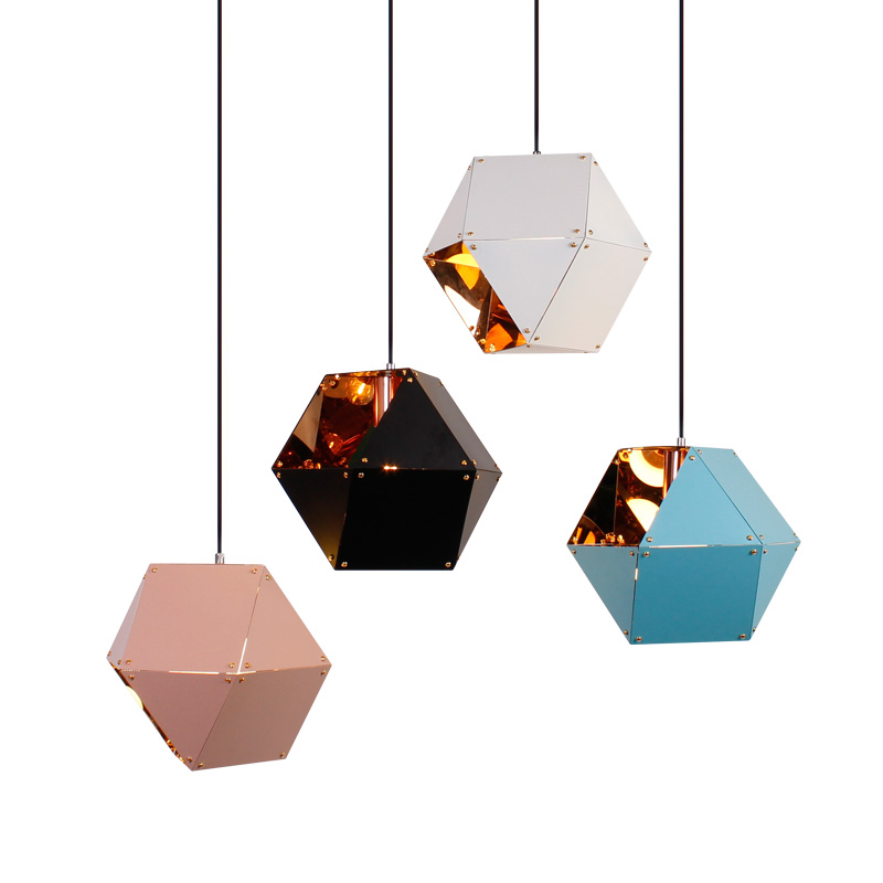 Modern Nodric Style Steel Plating Pendant Lights For Shop