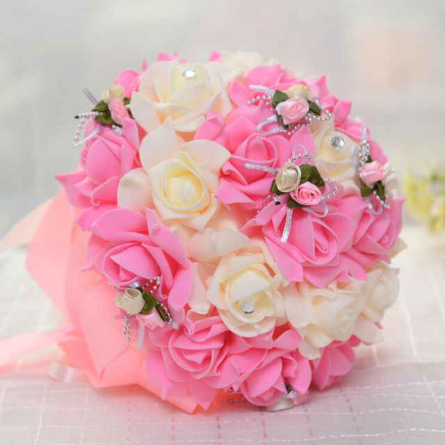 All New Handmade Mixed PE Rose Artificial Flowers For Bridesmaid ...