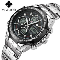 WWOOR Brand Men S Sports Watch Fashion LED LCD Digital Quartz Wristwatches Casual Outdoor Watches Japan