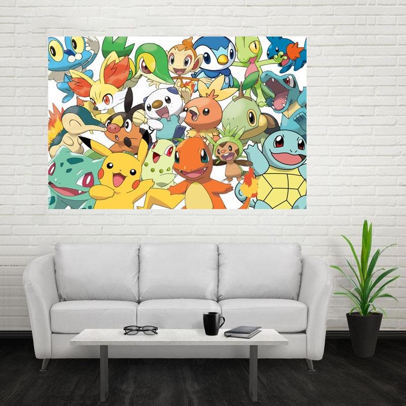 Poster Tissu Décoration Mur Pokemon