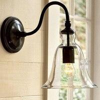 Americano rural moderna lâmpada de vidro ferro lâmpada de parede|Luminárias de parede| |  -