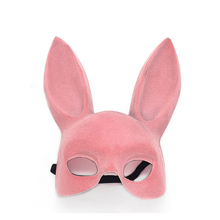 Mask for Women Black Pink Girl Sexy Rabbit Ear Masks Halloween Masquerade Party Cosplay Costume Props Bunny Long Ears Party Mask