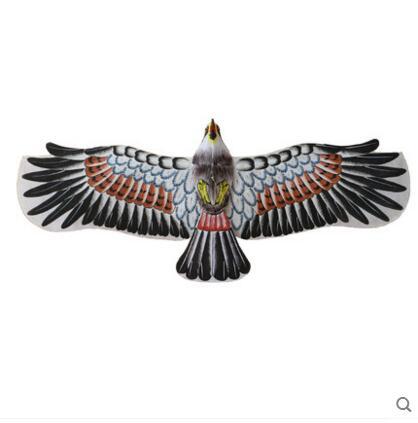 Haute qualité livraison gratuite 140 cm chinois traditionnel peinture à la main aigle cerf-volant peut double plateau avec poignée