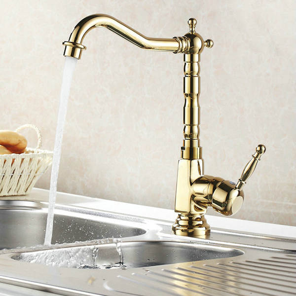Us 56 4 25 Off Becola Free Shipping Gold Color Bathroom Sink Faucet Mixer Luxury Brands Br Kitchen Hy 839 In Basin Faucets From