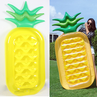 180cm Inflatable yellow pineapple floating ring inflatable floating bed swimming ring adult
