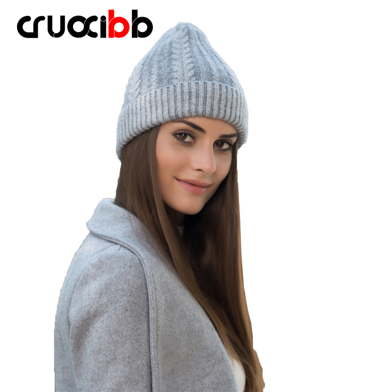Brand Angora Rabbit Hair Beanie Women Wool Knitted Hats Girls Skullies Warm Winter Hat Snow Caps Ski Cap Super Quality Fashion princess hat skullies new winter warm hat wool leather hat rabbit hair hat fashion cap fpc018