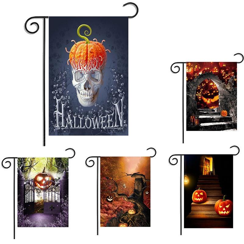 Aliexpress.com : Buy Halloween Garden Flag Hallowmas Garden Banners Black  Cat Skull Trick Or Treat Garden Banner Halloween Party Decoration 30*45cm  From ...