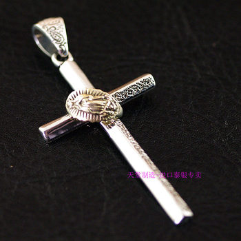 Thailand imports, 925 Sterling Silver Genuine GV new meticulous Cross Pendant