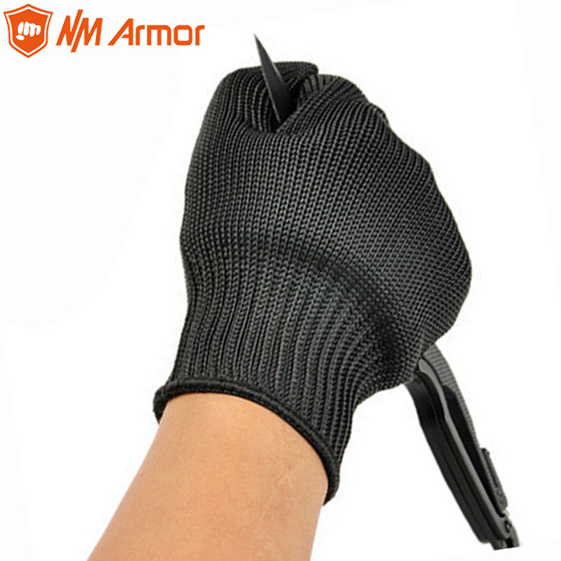 NMArmor 1 Pair Proof Protect Stainless Steel Wire Safety Gloves Cut Metal Mesh Butcher Anti-cutting breathable Work Gloves все цены