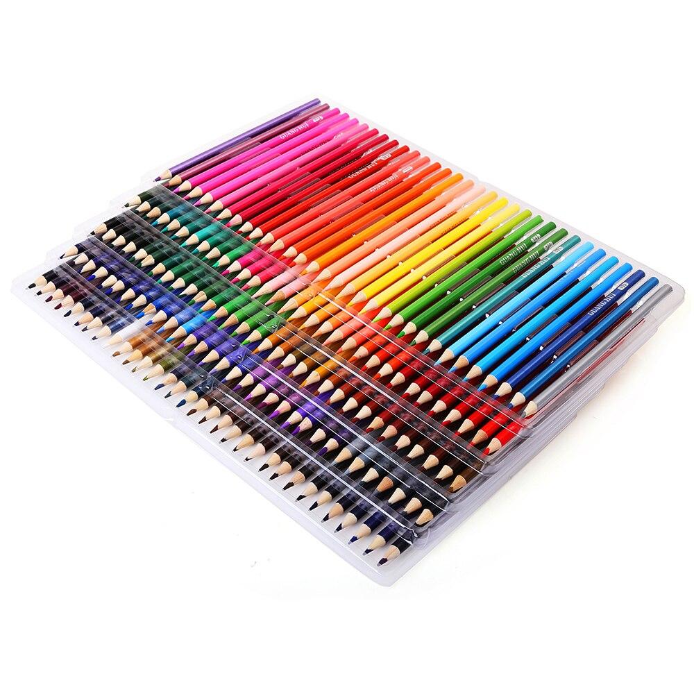 Ensemble De crayons De couleur bois 120/160 couleurs Lapis De Cor artiste peinture à l'huile crayon De couleur pour l'école dessin croquis Art fournitures