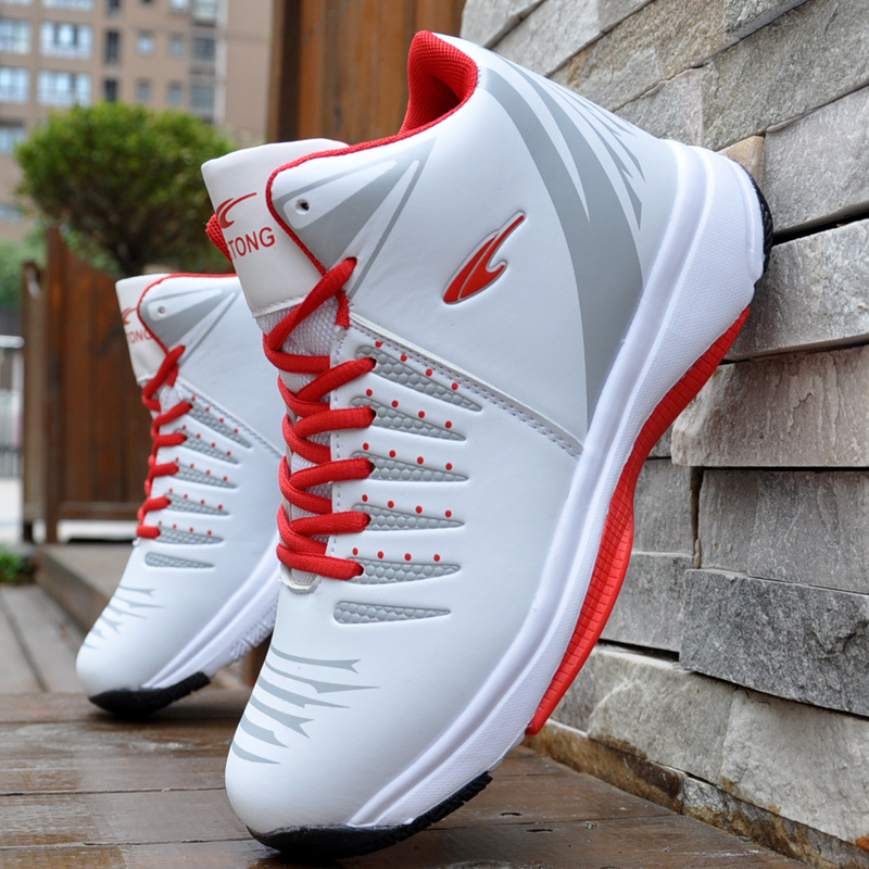 High-top Basketball Shoes Men's Cushioning Light Basketball Sneakers Men Zapatos Hombre Breathable Outdoor Sports Shoes(China)