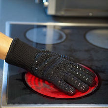 Oven Gloves Silicone Heat Resistant Baking BBQ Grill Mitt Cotton Lining 1 Pair for kitchen baking tools silicone freezer oven mitt 1 pair