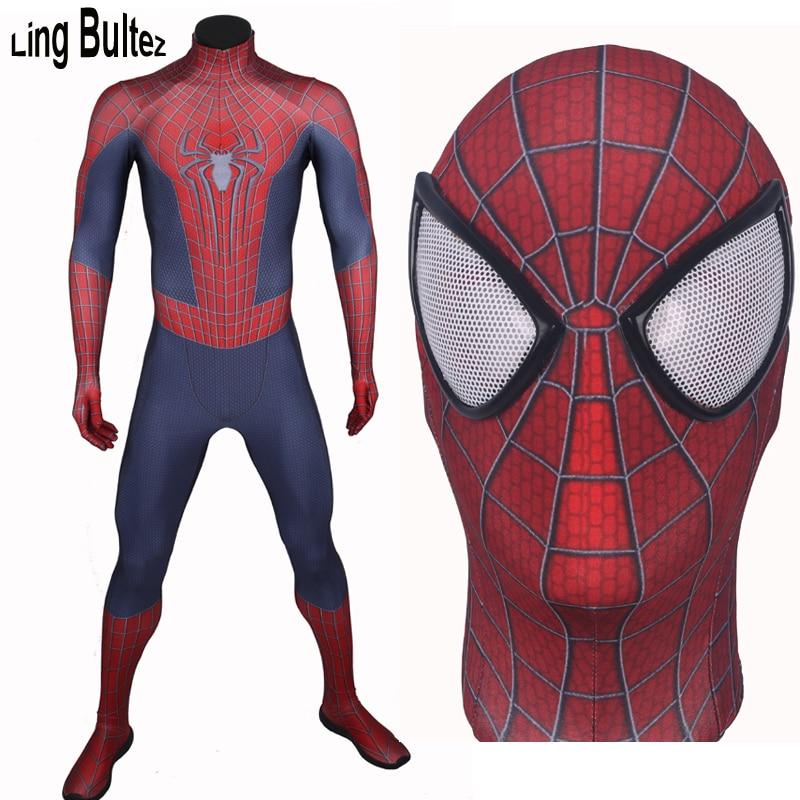 Ling Bultez di Alta Qualità Su misura di Nozze Spiderman Spandex Tuta Per  Adulti Eroe Spiderman 439553caae9f
