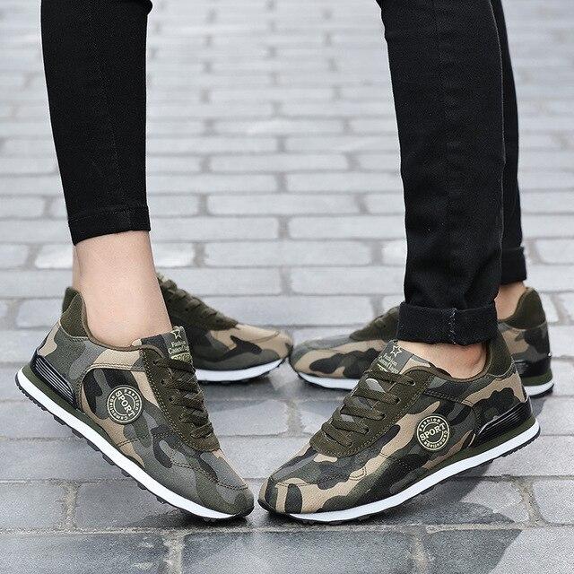 Men Casual Shoes High Quality Fashion  Desert Digital Camouflage Military Shoes Breathable Men Shoes zapatillas hombre