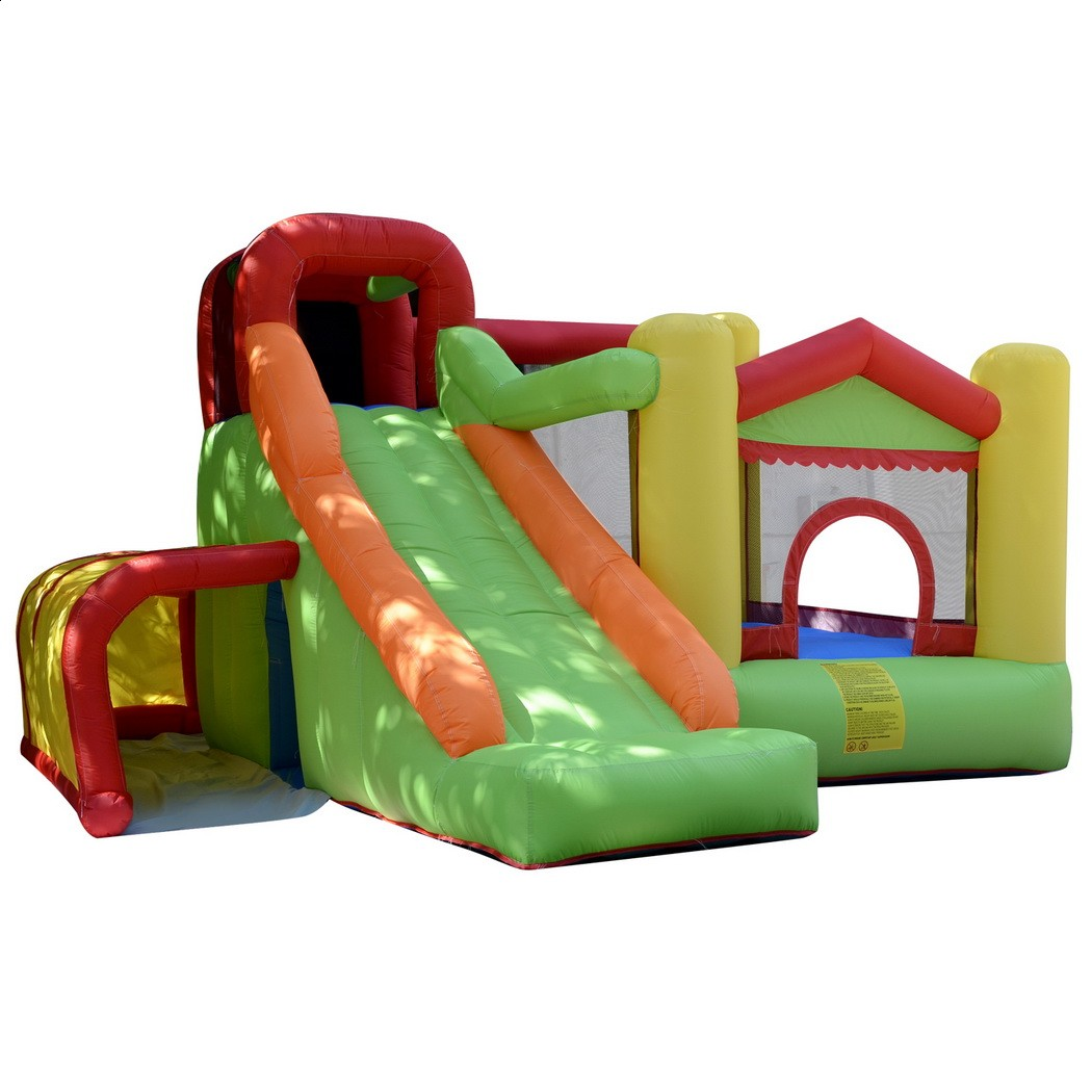 Arshiner Trampoline Bounce House Kids Castle Inflatable Jumper Bouncer Without Blower gift for kid Fun slide Free shipping USA residential bounce house inflatable combo slide bouncy castle jumper inflatable bouncer pula pula trampoline birthday party gift