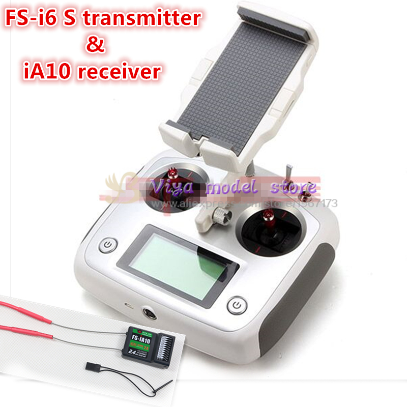 the newest Original FLY SKY FS-i6S 2.4G 10 channels radio remote control transmitter + iA10 receiver for DIY FPV drone niorfnio portable 0 6w fm transmitter mp3 broadcast radio transmitter for car meeting tour guide y4409b